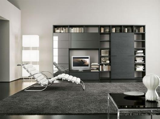 salonminimalista1 Salas minimalistas por Presotto Italia