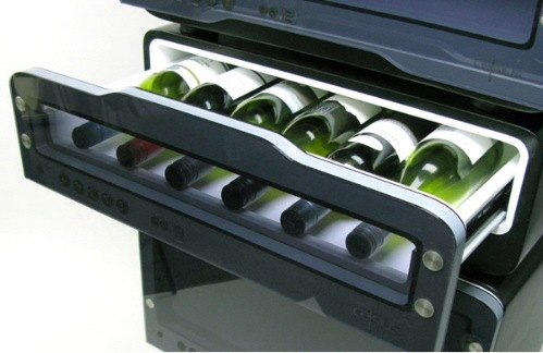 wine refrigerator and wine storage