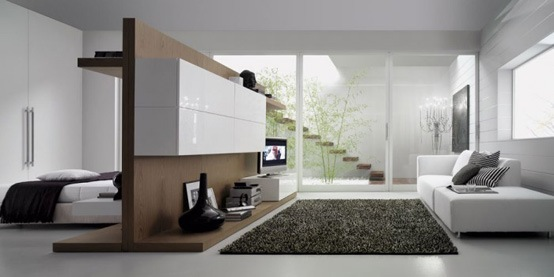 25 salas de estilo moderno y minimalistas por tumidei for Casas estilo minimalista interiores