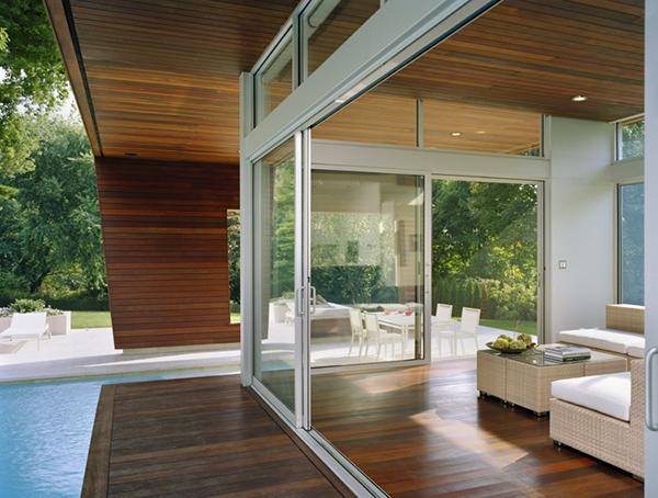 Casa alberca wilton 8 interiores for Fotos de casas modernas con alberca