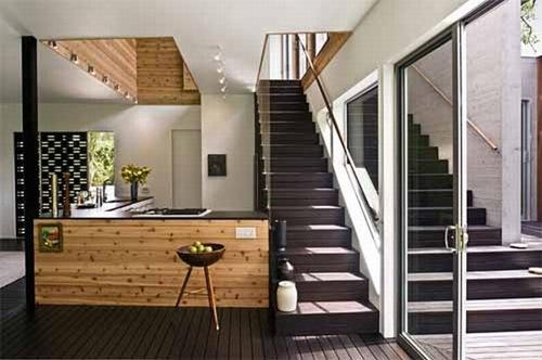 Noyack creek casa minimalista por bates masi architects for Casa minimalista interior negro