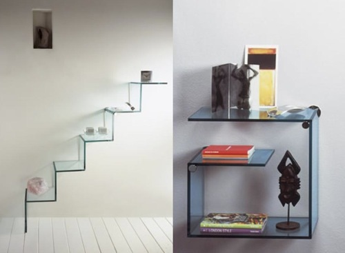 Vitrinas y estanter as de cristal creadas por tonelli interiores - Estanterias de cristal para banos ...