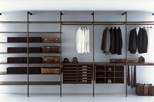 Closets de dise o italiano para los hombres de la casa interiores - Kleiderstangen systeme ...