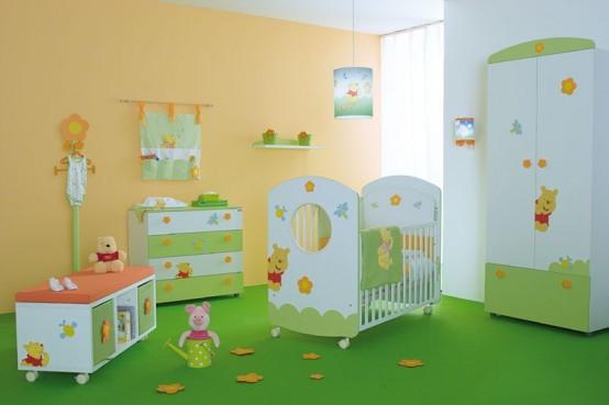 Habitaci n para tu bebe inspirada en winnie pooh interiores - Babyzimmer winnie pooh ...
