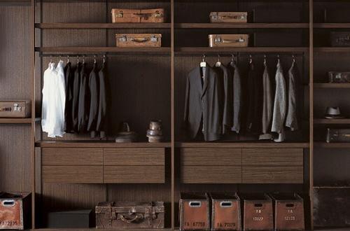 Closets de dise o italiano para los hombres de la casa Diseno de interiores closets modernos