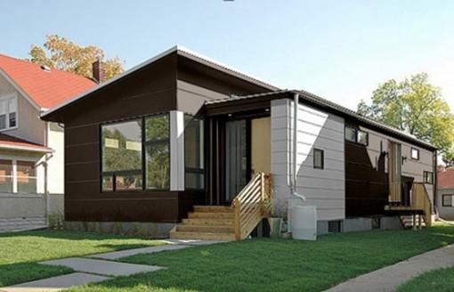Casa prefabricada de dise o moderno interiores Casas modernas precio construccion