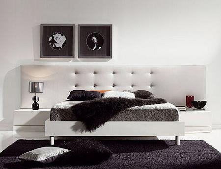 Cabeceras acolchadas para la cama de tu dormitorio for Recamaras con cabecera tapizada