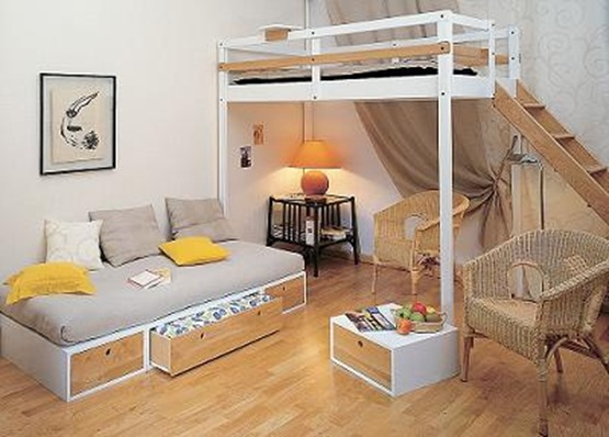 Etiquetas ahorro de espacio camas altas cuarto juvenil cuartos