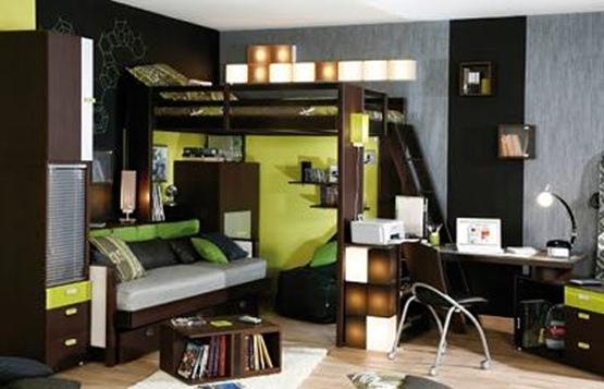 Gana espacio en tu cuarto con una cama alta interiores for Como hacer una cama alta de madera