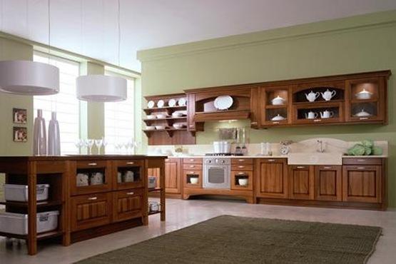 Cocinas con muebles de madera interiores - Cocinas rusticas de madera ...