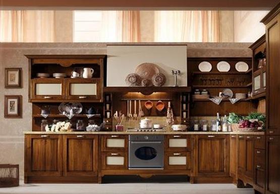 Cocinas con muebles de madera interiores for Muebles de madera para cocina pequena