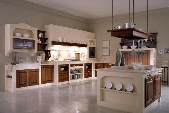Cocinas con muebles de madera interiores for Cocinas clasicas pequenas