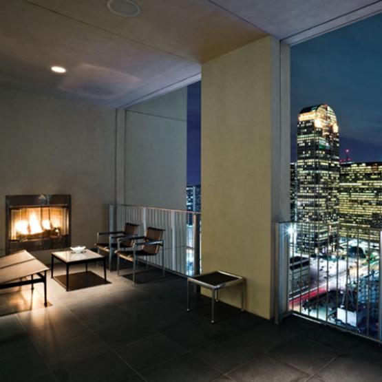Penthouse patio overlooking Dallas Skyline