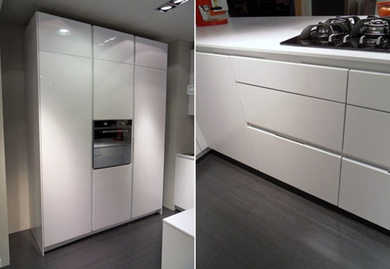 Cocina moderna para peque os espacios interiores Cocinas integrales en espacios pequenos