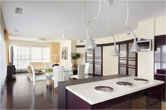 Moderno y acogedor departamento con un increible cuarto de for Iluminacion para departamentos modernos