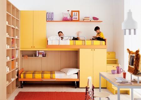 Literas para dormitorios infantiles interiores for Diseno de libreros para espacios pequenos