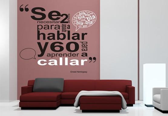 Vinilos decorativos la nueva tendencia para tus paredes interiores - Ultimas tendencias en decoracion de paredes ...