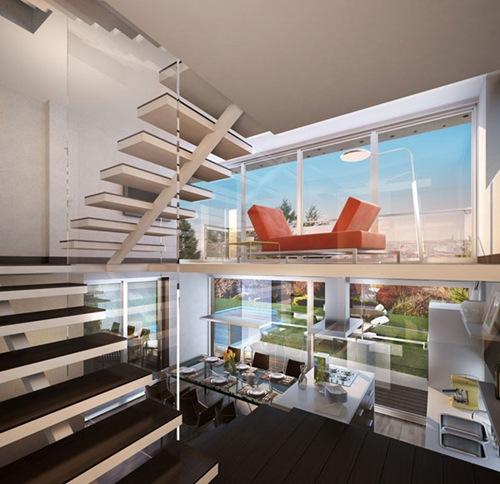 Inside Of Dream Houses: Three Story House – Arquitectura Contemporanea
