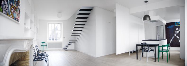 Departamento duplex minimalista interiores for Rangement maison minimaliste