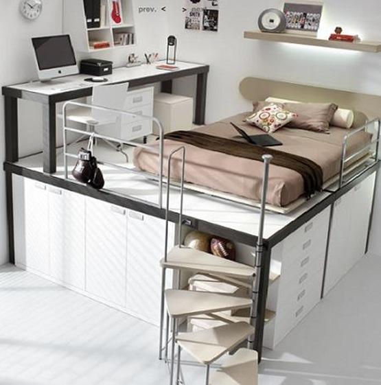 Dormitorios infantiles muy pr cticos y modernos interiores for Muebles practicos para casas pequenas