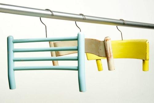 ganchos para ropa reciclados