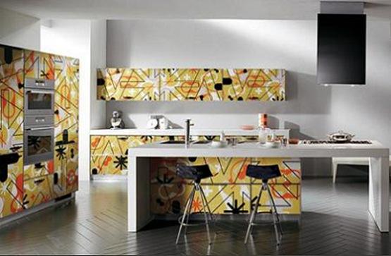 cocina moderna y estampada