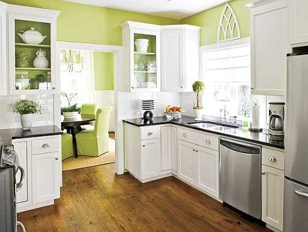 Ideas para decorar tu cocina con el color verde Interiores