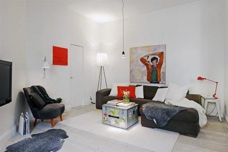 Un departamento peque o con estilo n rdico interiores for Departamentos pequenos lujosos