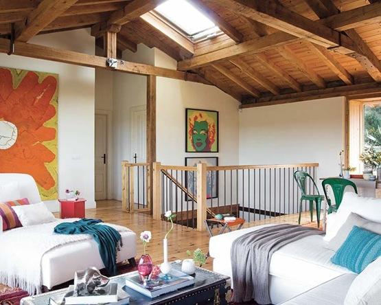 Hermosa casa de campo con esp ritu rural interiores - Decorar casa de pueblo ...