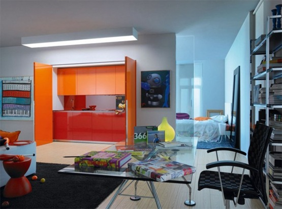 comfortable-orange-kitchen-photos-588x436