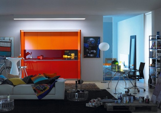 trendy-orange-kitchen-design-pictures-588x411