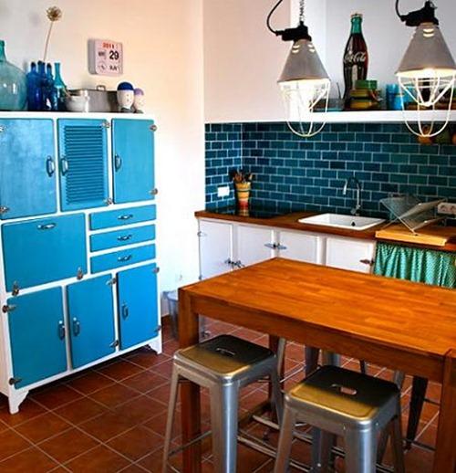 Cocinas vintage interiores - Cocinas retro vintage ...
