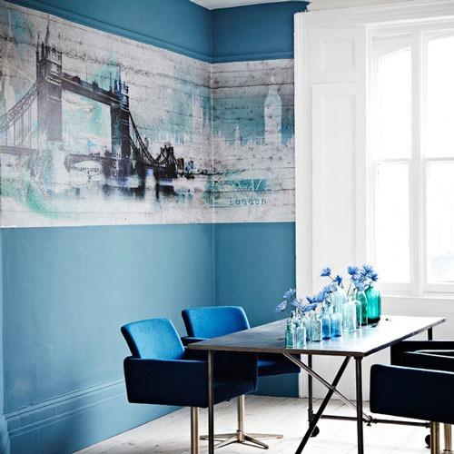 Comedores Decorados en Azul | Interiores