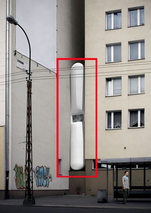 Keret-House-by-Centrala-thinnest-flat-in-the