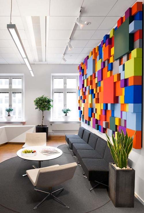 Dise o de interiores en oficina en suecia interiores for Disenos de interiores para negocios