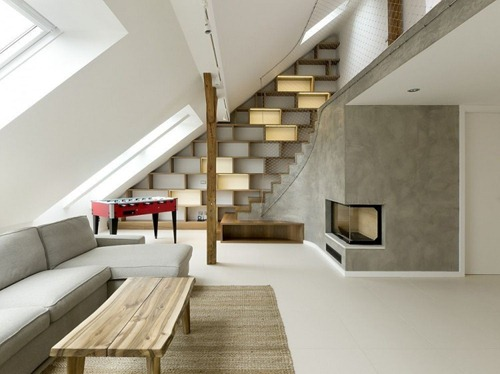 Loft redondeados en Praga | Interiores