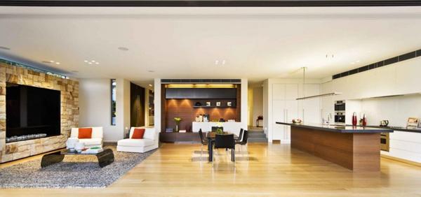 Inspiracion arquitectura casa moderna con espacios for Ambientes de una casa moderna