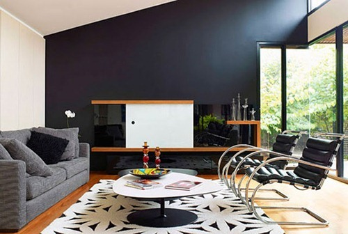 paredes con interiores en color negro interiores. Black Bedroom Furniture Sets. Home Design Ideas