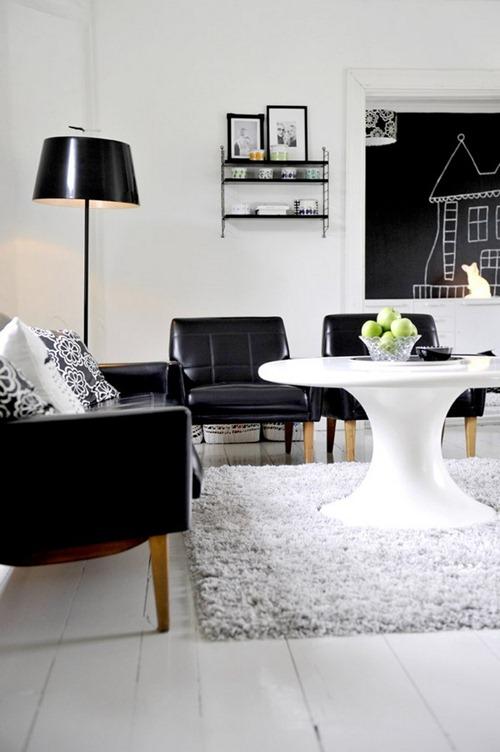 Dise os contempor neos en blanco y negro interiores for Disenos de interiores en blanco y negro