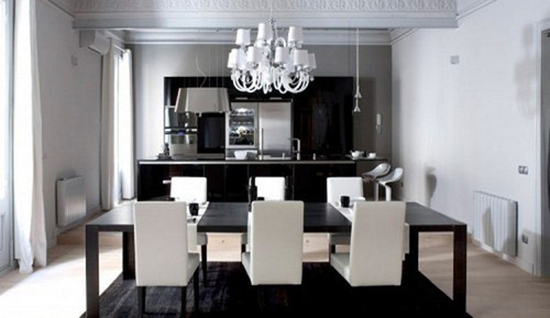 black and white dining room ideas dise 241 os contempor 225 neos en blanco y negro interiores 26480