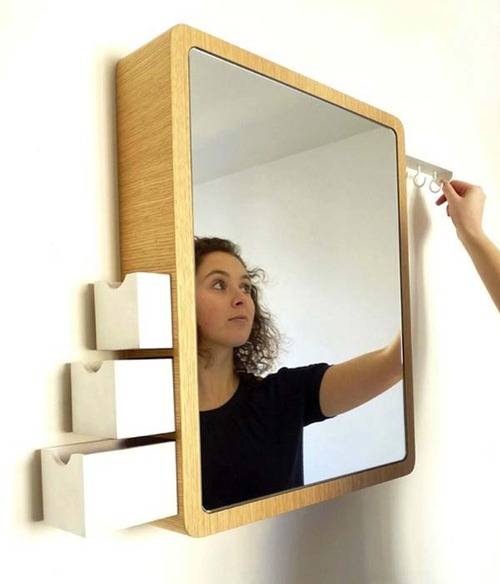 Espejo de almacenaje interiores for Espejo con almacenaje