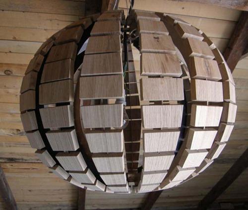 Wood-Chandelier