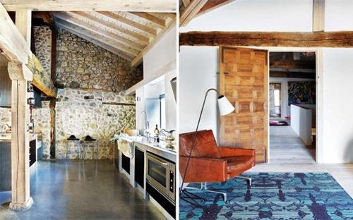 Renovación Moderna de una Casa Rústica  Interiores