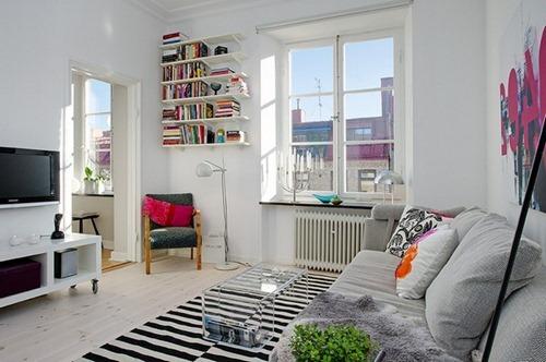 Apartamento de dos habitaciones con decorado y estilo for 6 cuartos decorados con estilo