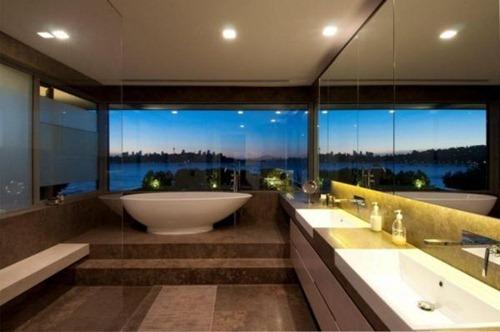 Elegantes diseños de baños para habitaciones | Interiores