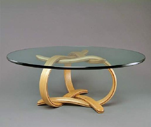 Escultura Bajo Cristal: Mesas De Centro Originales Por