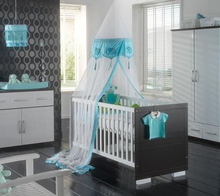 Estilo en el cuarto de tu bebe pintado de color gris for Habitacion blanca y turquesa