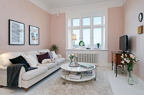 Casas decoradas con papel tapiz interiores - Casas decoradas con papel pintado ...