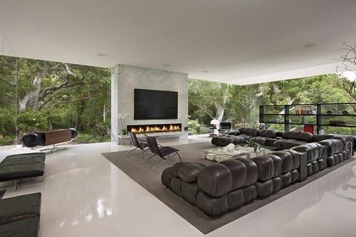 Pabell n de cristal casas modernas de lujo por hermann Interiores de casas lujosas