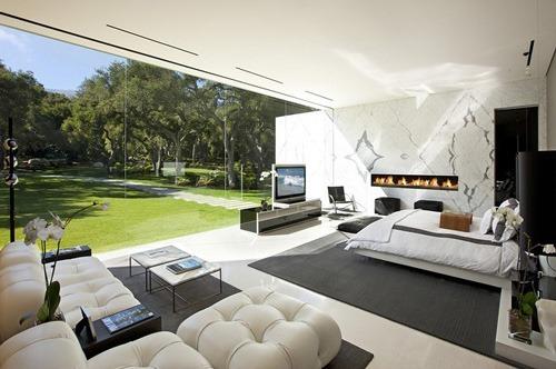 Pabell n de cristal casas modernas de lujo por hermann for Casas modernas grandes por dentro